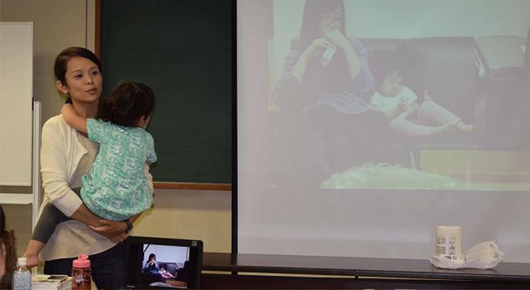 シブヤ大学で「子連れ出勤」に関する授業の様子