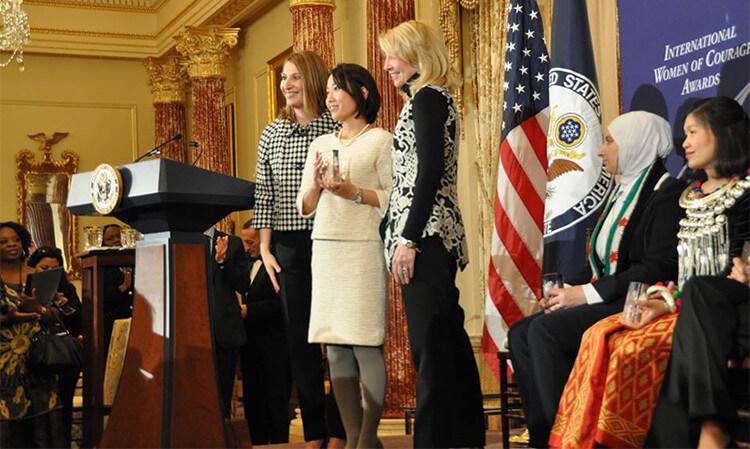 「世界の勇気ある女性賞」授賞式の様子