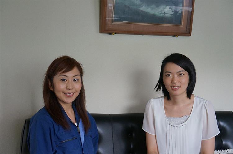 ダイヤ精機(株)代表取締役・諏訪貴子さんとノヴィータ代表取締役社長・三好