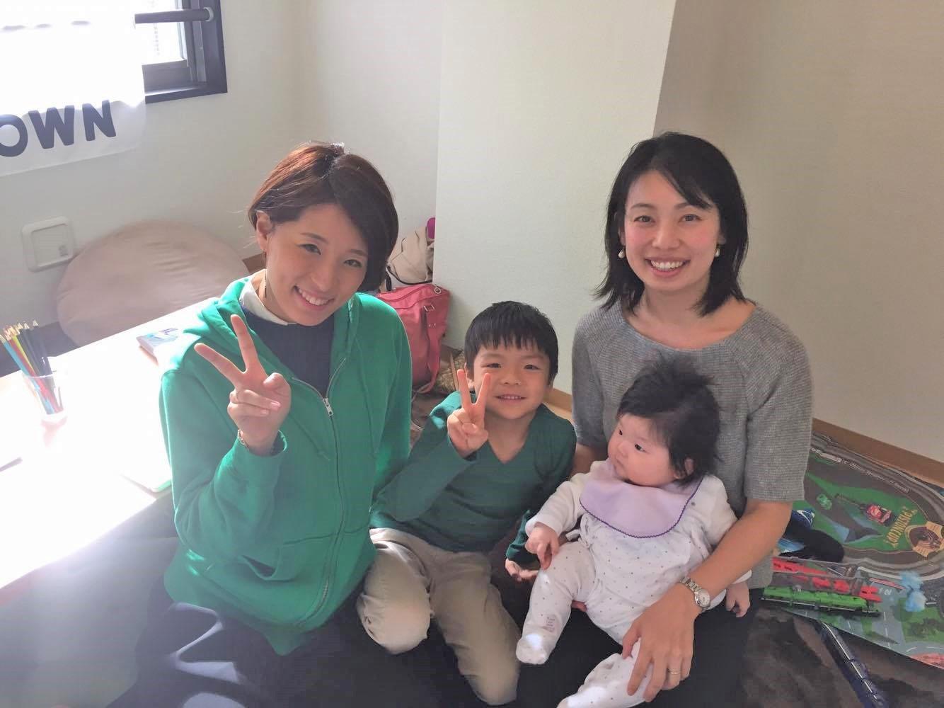 道村社長、れお君、れお君のお母さんとお子さん