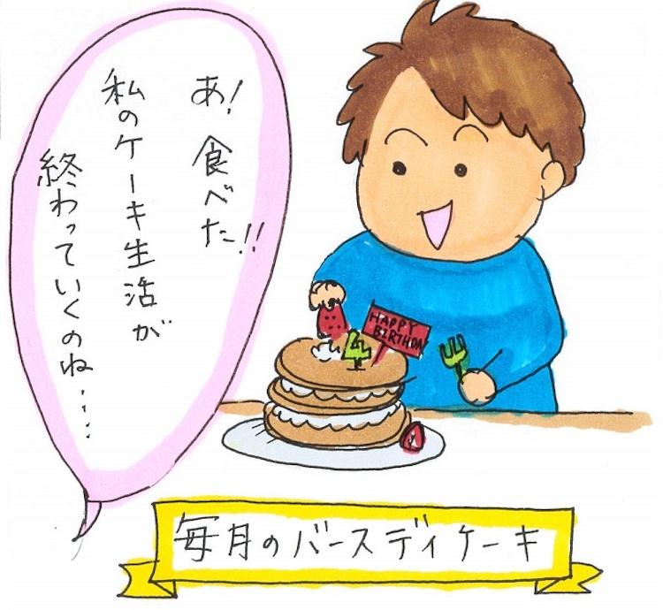 【第34回】月誕生日はケーキで記念写真 〜ワーママ子育て狂想曲〜