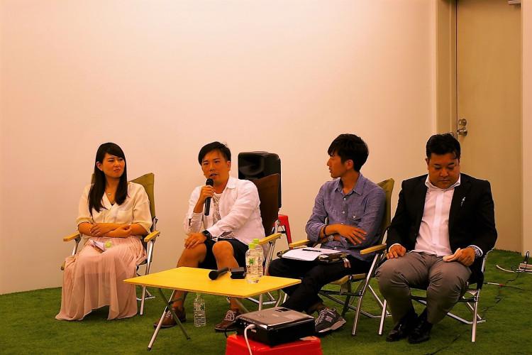 (左から)鈴木さん、新井さん、津田さん、吉田さん